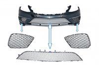 Stoßstangenunterer Mittelgitter für Mercedes S-Klasse W222 13-17 S63 Look Chrom-