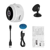 Mini Kamera, HD 1080P Tragbare Kleine WiFi WLAN IP Überwachungskamera Sicherheit Kamera Hidden Spion Camera, 44x24mm Weiß