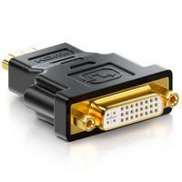 deleyCON HDMI zu DVI Adapter - DVI Buchse zu HDMI Stecker 1920x1200 1080p - Schwarz