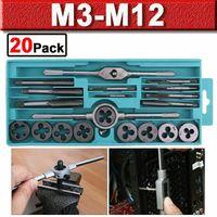 Gewindeschneider Werkzeug Satz M3-M12 20-tlg. Fein Gewinde Schneider Bohrer Set