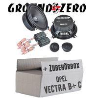 Ground Zero GZIC 13X Kompo - 13cm Lautsprecher System - Einbauset für Opel Vectra B + C   Tür hinten - JUST SOUND best choice for caraudio