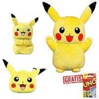 SPAR-SET 176778 - Pokémon - Pikachu Plüschfigur 40cm + 2 Plüschtaschen (Nintendo 3DS XL / 2DS)