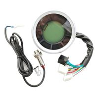 Motorrad 0-12000 U/min LCD-Display Tacho Tachometer Drehzahlmesser Geschwindigkeitsmesser