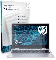 Bruni Basics-Clear 2x Schutzfolie kompatibel mit Acer Chromebook Spin 311 Folie