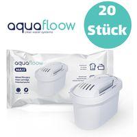 20er Pack Baugleich zu Brita Wasserfilter Kartuschen Wasserfilter Kartuschen Aquafloow Kompatibel mit BRITA Maxtra Filter