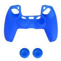 Silikon Gel Fall Haut Schutzhülle Grip für PlayStation 5 PS5 Controller Blau 18 x 10 x 2 cm
