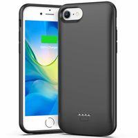 iPhone 6P/6SP/7P/8 Plus Handyhülle mit Powerbank 5500 mAh schwarz