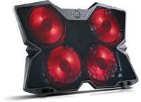 SK-T6 Notebook Laptop Kühler   4 x LED Lüfter   2 x USB   Schwarz