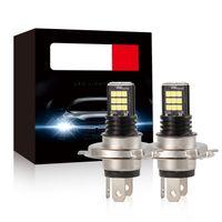 2pcs H4 LED 24W Nebelscheinwerfer Superhelle Hochleistungs Auto LKW Scheinwerfer 6000K Kühles Weiß