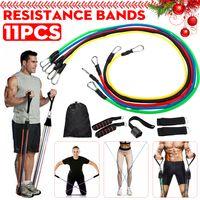 11 Stück / Set Naturkautschuk Latex Fitness Tubes Widerstandsbänder Trainingsübung Yago Sport Gym ElasticTraining Rope Pull String