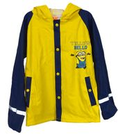 Minions Kinder Regenjacke Outdoor Buddel Matsch Jacke Jungen Funktionsjacke gelb, Größe:110/116