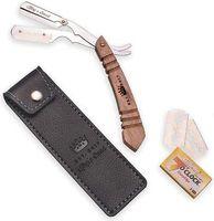 Premium Rasiermesser mit Wechselklinge im Holzgriff für Herren