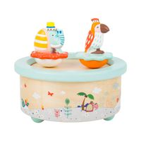Jadpes Spieluhr 17,5 /× 13,5 /× 11 cm Retro-Radio-Form mit sch/önen Puppen Lagerung Spieluhr Hochzeit Liebe Kuss Puppe Retro-Radio Spieluhr