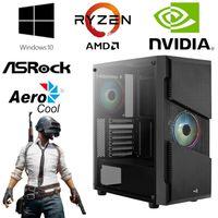 Gaming PC - AMD Ryzen 5 3600 6 Core 4,2GHz - 16GB RAM - 512GB SSD + 1TB HDD - NVIDIA GT 1030 - Gamer -  RGB AeroCool Gehäuse