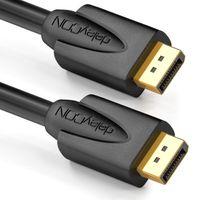 deleyCON 2m DisplayPort Kabel - 4K 2160p 3D HDCP - DP (20 Pin) Stecker auf DP (20 Pin) Stecker - PC Notebook Monitor Grafikkarte - Schwarz