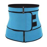 Damen Training Korsett Unterbrust Waist Trainer Bauchgürtel - atmungsaktiv und bequem Größe Blau XL