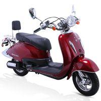ALPHA MOTORS Motorroller »Retro Firenze«, 50 ccm, 45 km/h, Euro 4, weinrot