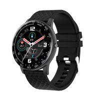(Schwarz)Smartwatches Armband Wasserdichter Blutdruck-Herzfrequenz-Tracker