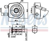 NISSENS Ölkühler Automatikgetriebe für CITROËN XSARA PICASSO N68