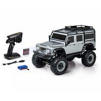 Carson RC 1:8 Land Rover Defender 2.4GHz 100% RTR silber Crawler, Geländewagen