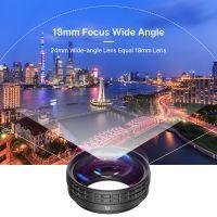 Ulanzi WL-1 18-mm-Weitwinkelobjektiv 10-fach Makroobjektiv 2-in-1-Zusatzobjektiv mit Reinigungstuch mit externem Adapterringersatz fuer Sony ZV1 RX100M7-Kameras