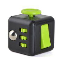 Vevendo Fidget Cube Anti-Stresswürfel - Schwarz/Grün