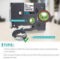 10x TZe-S231 12mm Schriftband kompatibel für Brother p-Touch mit EXTRA-Klebkraft