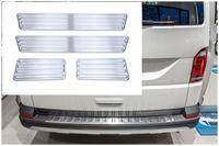 Ladekantenschutz und Einstiegsleisten für VW T6 T6.1 Multivan 5 Türer Bj. 2015-, Farbe:Silber
