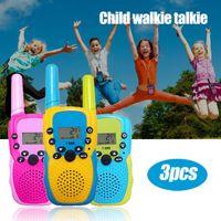 Kinder WalkieTalkie,6 km Langstrecken Kinder-Walkie-Talkie  Kinderspielzeug Beste Geschenke für Jungen und Mädchen 3Stück