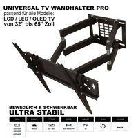 TV-Wandhalterung LCD LED Fernseher Wandhalter Wandhalterung Universal 32 - 65 Zoll Neigbar Schwenkbar VESA 400x400 300x300 200x200 100x100 75x75 max. 40kg von Vontech