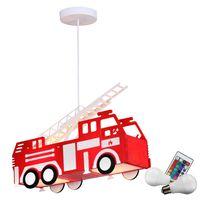 RGB LED Feuerwehr Pendellampe mit Fernbedienung