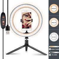32cm LED Studio dimmbar Ringlicht Telefon Selfie Make-up Video Live Lampe