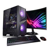PC Set Gaming mit TFT Earthquake AMD Ryzen 7 3700X, 16GB RAM, NVIDIA GTX 1650, 500GB SSD
