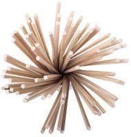 100x Traditionelle Zuckerwatte-Stäbchen 280 mm x 3.5 cm x 3.5 mm Zuckerwatte