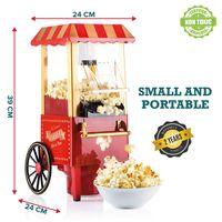 Popcorn Maschine | Retro Popcorn Maker | Heissluft Ohne Fett Fettfrei Ölfrei]