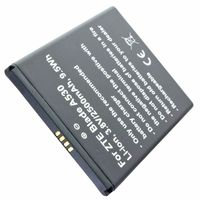 Akku passend für ZTE Blade A530, Li-ion, 3,8V, 2500mAh, 9,5Wh