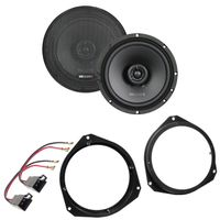 MB QUART QX165 2-Wege Koax Lautsprecher Einbauset für Alfa Romeo Mito Giulietta