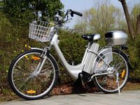 """Elektrofahrrad 250W / 36V E-Bike 26"""" Pedelec Fahrrad mit Motor Citybike Elektro City Fahrrad 250 Watt 26 Zoll - silber"""