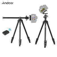 Andoer Q160H Tragbares Kamerastativ Horizontal montiertes professionelles Reisestativ mit 360-Grad-Panorama-Kugelkopf Telefonhalter Fernbedienung fuer DSLR-Kameras Smartphones Kompatibel mit Canon Nikon