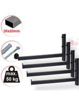 4 x Wand-Reifenhalter, 42,5cm, 50kg, (30x20mm)