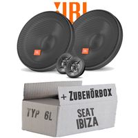 Lautsprecher Boxen JBL 16,5cm System Auto Einbausatz - Einbauset für Seat Ibiza 6L Front Heck - justSOUND