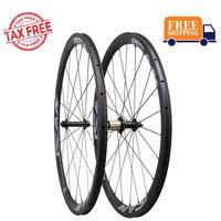 ICAN Carbon Laufradsatz 38mm 700C Laufräder Rennrad Drahtreifen Felge Sapim Speichen Shimano 10/11 Speed 1370g (Aktualisierung Laufradsatz)