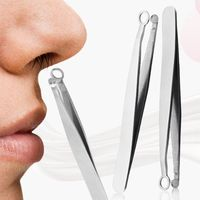 2pcs Nasenhaarschneider, Nasenhaar-Pinzette Nasenhaarschere Nasenhaartrimmer für Augenbrauenhaare im Gesicht