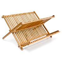 relaxdays Abtropfgestell CROSS Bambus 42 cm breit