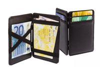 SPACEFLIGHT Magic Wallet für Männer aus Kunstleder, Kartenhalter für Kreditarten & Scheine mit elastischen Riemen, Herren Kartenetui, 8 Kartenplätze, 10,5x7cm
