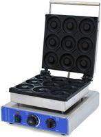 9 Stück Elektrische Donutmaschine Donutmaker Donut-Fritteuse Backgerät Antihaft Rostfreier Stahl gewerblich zu Hause
