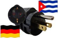 Urlaubsadapter Kuba für Geräte aus Deutschland
