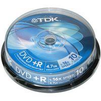 TDK - 10 x DVD+R - 4.7 GB ( 120 Min. ) 16x - Spindel