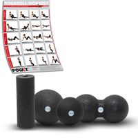 Faszienrolle 4er Set Professional Foam Roller Massagerolle Gymnastikrolle