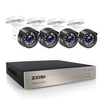 ZOSI 8CH 1080P H.265+ DVR Video Überwachungssystem mit 4 Außen 2.0MP Überwachungskamera Set ohne Festplatte